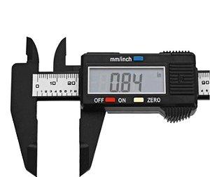 Paquímetro Digital 150mm Profissional Cuidado Facial Design de Sobrancelha