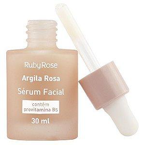 Sérum Facial Argila Rosa Ruby Rose 30ml Revitaliza Hidrata Nutre Estética Facial Limpeza de Pele
