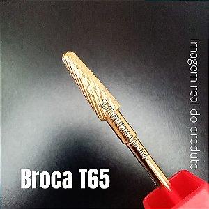 Broca Tungstênio T65 Dourada Para Unhas Manicures Nail's Designer