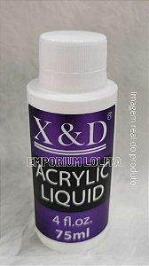 Liquido Acrílico X&d Monomer 75ml Para Extensão De Unha Profissional Manicure Nail Designer