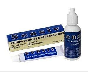 Kit Tintura + Oxidante para Cílios e Sobrancelhas Sensiv