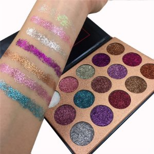 Paleta Super Pigmentada Glitter 15 Beauty Glazed