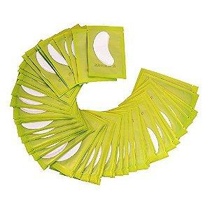 Pacote 50 pares de Protetor Adesivo de Cílios para Alongamento