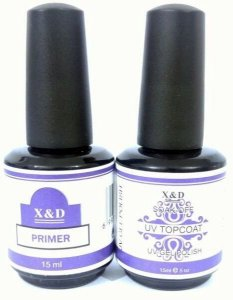 Kit Primer E Top Coat Uv X&d Unha XeD