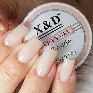 Gel Led/Uv X&D para Unhas Alongamento Pink Nude 017 15g
