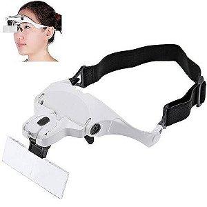 Óculos Lupa De Aumento Profissional 5 Lentes Com Led Iluminação - 2 Leds De Luz -