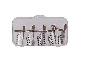 5 Moldes Reutilizável para Unha em Gel e Porcelana