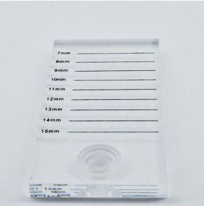 Placa Suporte para Cola de Cílios c/ Marcação - Plástico