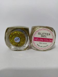 Gel Helen Color Glitter 15ml Encapsulada Dourado