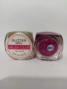 Gel Helen Color Glitter 15ml Encapsulada Pink