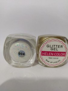 Gel Helen Color Glitter 15ml Encapsulada Furta Cor