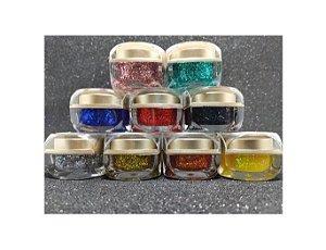 Kit 9 Gel Helen Color Glitter 15ml Encapsulada