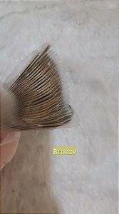 Fitilhos Finos Bronze Para Decoraçao De Unhas