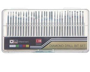 Kit 30 Brocas Diamantadas Originais Profissional Padrão Universal