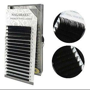 Cílios Nagaraku Premium Mink Curvatura D Mix 0,03D