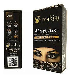 Henna para Sobrancelhas Makiaj  Preto