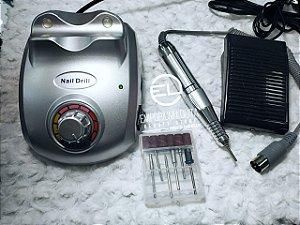 Lixadeira Eletrica Telefone 30000 RPM Prata e Branco