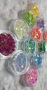 Kit 12 Estrelinhas Para Encapsulamento das unhas.