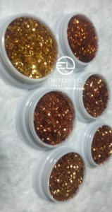 kit 6 Glitter Flocado para ENCAPSULAMENTO Dourado