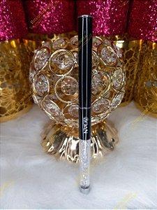 Pincel Cerdas Naturais Kolinsky - Para Unhas De Porcelana e Acrílico - Luxo Black & Strass #8