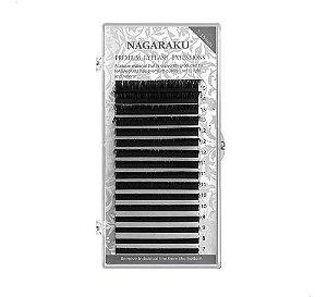 Cílios Nagaraku Premium Mink Curvatura D Mix 0,25D
