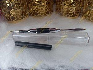 Pincel Com Espátula Para Francesinha - Decoração Cromado e Black