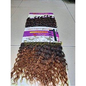 Perfeito Cabelo Weng Original Orgânico Cacheado 8 Telas 300g 3 tamanhos da tela 60cm 65cm 70cm mega Hair EstiloAnjo-538 pacote lilas