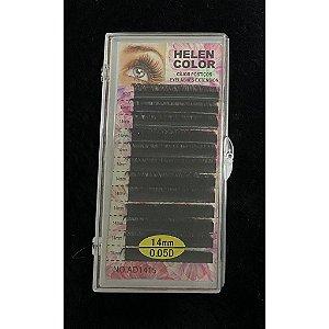 Cílios Fio a Fio Helen Color 0.05D 14mm Alongamento de Cílios