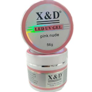 Gel X&D Pink Nude 56gr Led Uv Alongamento de Unhas Profissional Manicure