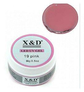 Gel X&D Pink 19 Led Uv Profissional Unhas Alongamento 56gr