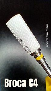 Broca de Cerâmica Fresa de Unhas Manicure Large Barrel F C4
