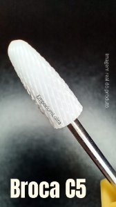 Broca de Cerâmica Fresa de Unhas Manicure Taper Radus XF C5