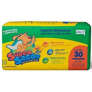 Tapete Higiênico Super Secão 30unidades 80x60