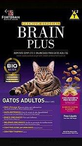 Brain Plus 1Kg para Gatos Adultos - Carne e Arroz