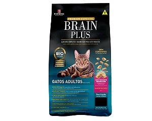 Brain Plus 1Kg para Gatos Adultos - Salmão