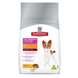 HILLS CANINE ADULTO LIGHT RAÇAS PEQ/MINI 3KG