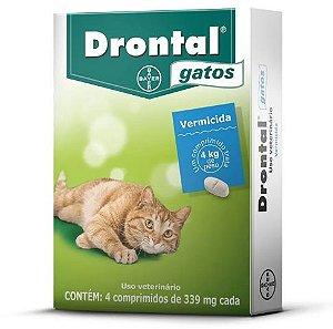 Vermífugo Drontal Gatos - 04 Comprimidos