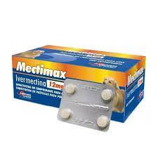 Vermífugo Mectimax Cães Ivermectina 12mg - 04 Comprimidos