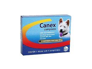 Vermífugo Canex Composto Cães - 04 Comprimidos