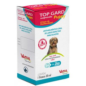 Vermífugo Top Gard Puppy Filhotes 20mL
