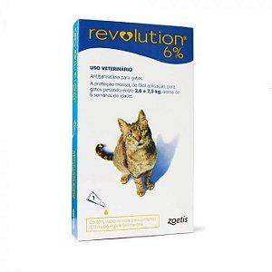 Revolution 6% Gatos Antipulgas e Antiparasitário