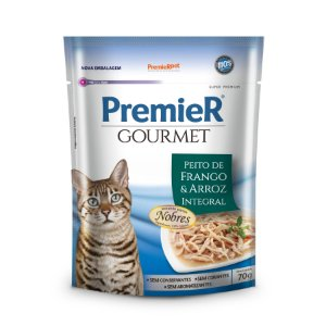 Sache Premier Gourmet Gatos - Peito de Frango e Arroz Integral - 70g