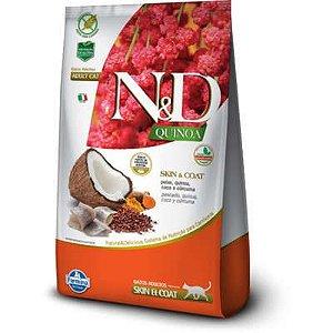 ND Quinoa Feline Adulto Skin & Coat Peixe