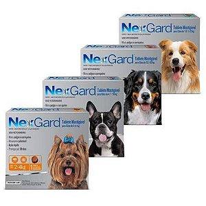NexGard Antipulgas e Carrapatos para Cães 03 comprimidos - Merial