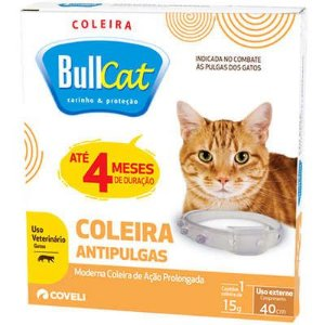 Coleira Antipulgas Bullcat para Gatos - Coveli
