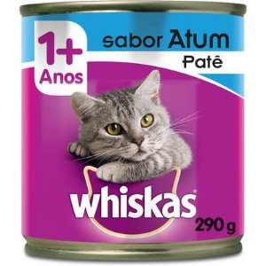 Whiskas Lata Patê de Atum para Gatos Adultos - 290 g