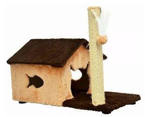 Arranhador Fit House Marrom/Bege