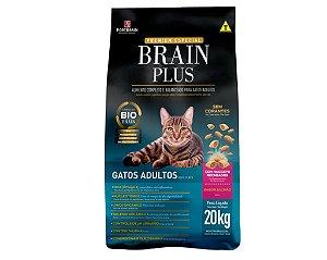 Brain Plus 20Kg para Gatos Adultos - Salmão