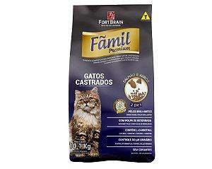 Fãmil Premium 10,1Kg para Gatos Castrados - Salmão e Arroz
