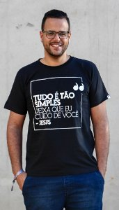 """Camiseta """"Cuido de você"""""""